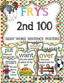 FRY'S 2ND 100 SIGHT WORD SENTENCE POSTERS