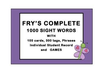 FRY'S 1000 WORDS COMPLETE