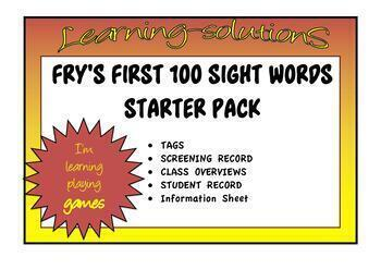 SIGHT WORDS - FRY'S COMPLETE STARTER BUNDLE First 100 words B&W
