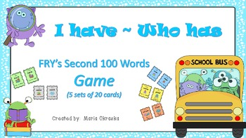 FRY's Second 100 Words Game