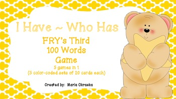 FRY's Third 100 Words Game