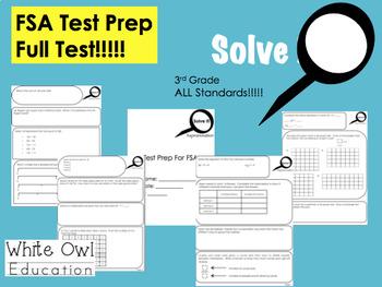 FSA Math Test Prep 3rd Grade FULL Test + Answer Key
