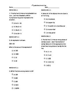FSA 4th grade Math Benchmark