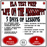 Common Core Reading Test Prep Lessons Pk. 6 Life on Miss F