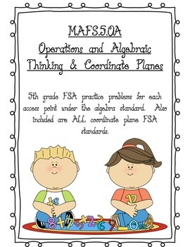FSA 5th Grade Operations & Algebraic Sample Problems
