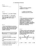 FSA 6th Grade Math Review