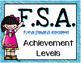 FSA Achievement Level Posters