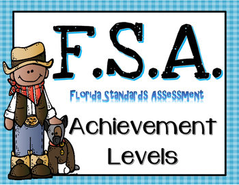 FSA Achievement Level Posters Western Themed