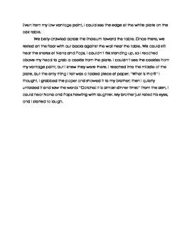 FSA Aligned Assessment - Cookie Caper
