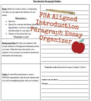 FSA Aligned Introduction Paragraph Outline