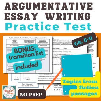 FSA Test Argument Writing NO PREP Practice Packet