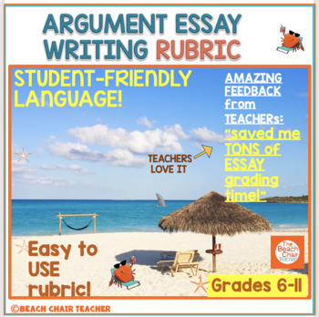 FSA Argument Writing Rubric - A 'Student-Friendly' Checklist
