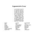 FSA Argumentative Writing Vocabulary Word Search