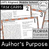 FSA Author's Purpose Task Cards (Florida Standards Assessment)