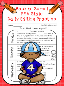 FSA Back to School Editing