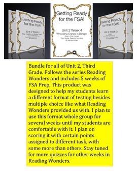 FSA Bundle - Reading Wonders - Unit 2 - Third Grade