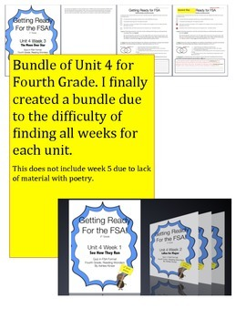 FSA Bundle - Reading Wonders - Unit 4 - Fourth Grade