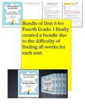 FSA Bundle - Reading Wonders - Unit 6 - Fourth Grade