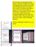 FSA Bundle - Unit 3 - 3rd Grade - Reading Wonders