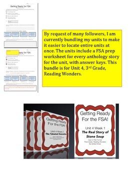 FSA Bundle - Unit 4 - Third Grade - Reading Wonders