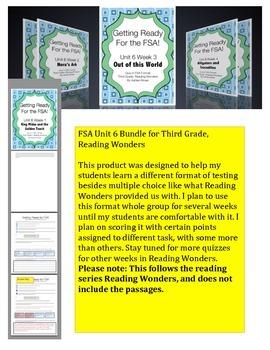 FSA Bundle - Unit 6 - Third Grade - Reading Wonders