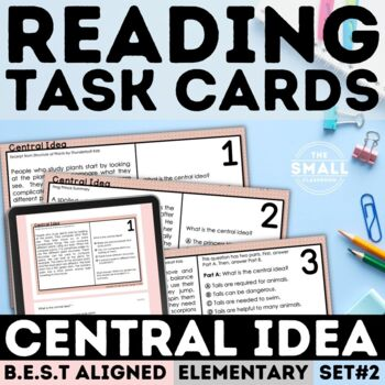 FSA Central Idea Task Cards Grade 3-5
