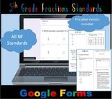 FSA / Common Core 5th Grade Fractions (NF) Test Prep 60 QUES