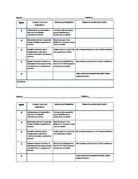 FSA Common Core Essay Rubric