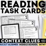 FSA Context Clues Task Cards (Florida Standards Assessment)