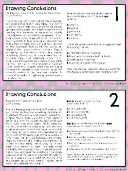 FSA Drawing Conclusions Task Cards (Florida Standards Assessment)