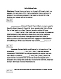 FSA ELA Daily Grammar Editing Tasks Days 50-54