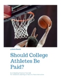 FSA ELA Reading Practice Text Set/ Should college athletes be paid?