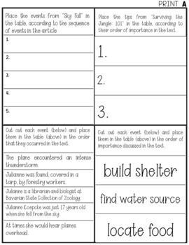 FSA/PARCC Paired Passages + Task Cards