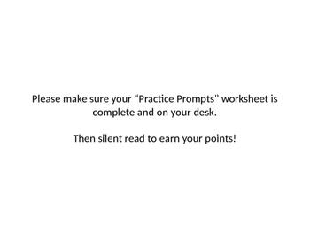 FSA ELA writing practice prompts powerpoint