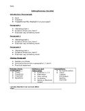FSA Editing/Revising Checklist