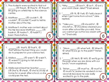 FSA Editing Task Cards-Contractions