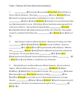 FSA Editing Task Practice #1 - 3rd & 4th Grade