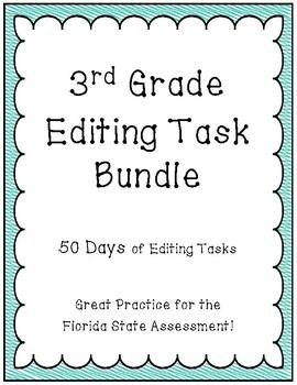 FSA Editing Task Practice 3rd Grade- BUNDLE