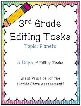 FSA Editing Task Practice #5- 3rd & 4th Grade