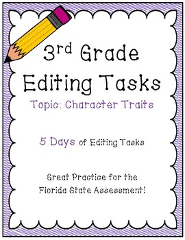 FSA Editing Task Practice #6- 3rd & 4th Grade