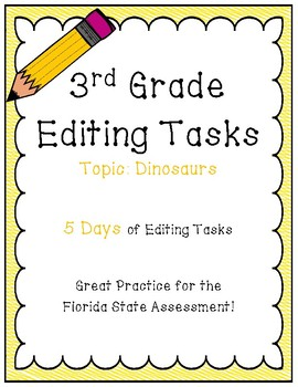FSA Editing Task Practice #8- 3rd & 4th Grade