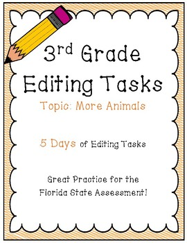 FSA Editing Task Practice #9- 3rd & 4th Grade