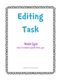 FSA Editing Task Water Cycle