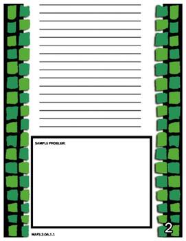 FSA (FLORIDA) Math 3rd Grade Year Long Journal (With Student Friendly Hints)