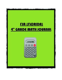 FSA (FLORIDA) Math 4th Grade Year Long Journal (With Student Friendly Hints)