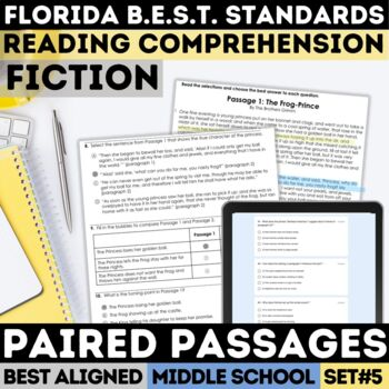 FSA Fiction Practice Test Set 5 (Florida Standards Assessment)