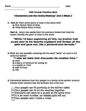 """FSA Format Practice Quiz """"Clementine and the Family Meeting"""" Unit 4 Week 2"""