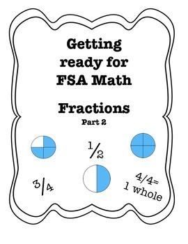 FSA Assessment Quiz, Go Math, Fractions Part 2