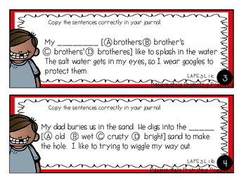 FSA Grammar Task Cards