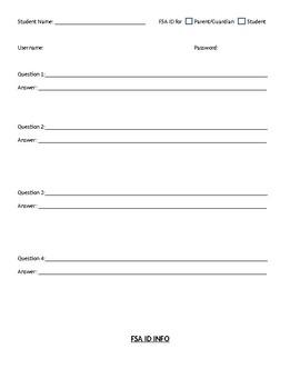 FSA ID Sign-Up Info.